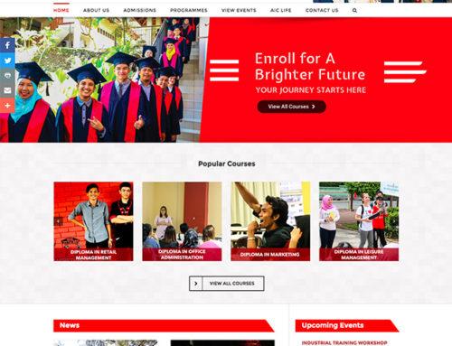 College Website Design – Almacrest International College
