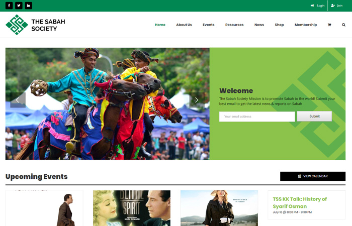 Web design for Sabah Society Organisation