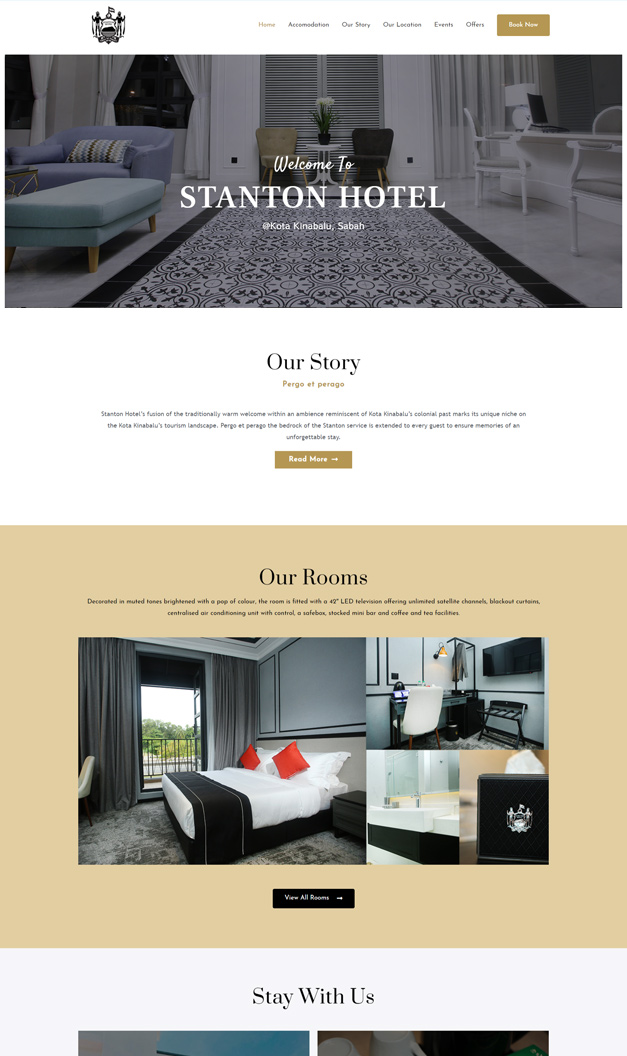 Web design for Hotel in Kota Kinabalu